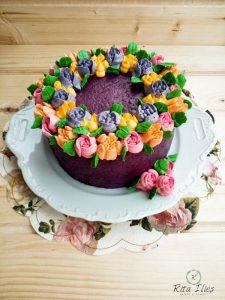 tort cu flori