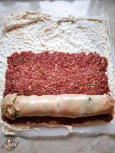 rulad de carne cu spanac