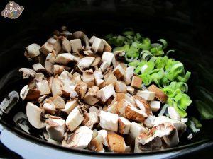 ciuperci si praz