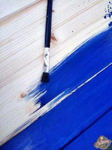 lemn vopsit